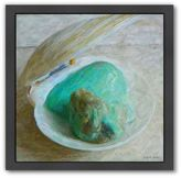Americanflat Turquoise Treasures Black Framed Wall Art