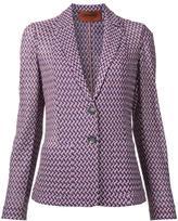 Missoni zig-zag pattern blazer - women - Cotton/Viscose - 42