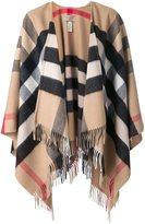 Burberry house Check cape - women - Cashmere/Merino - One Size