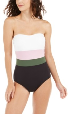 Kate Spade Colorblocked Strapless One-Piece Swimsuit Women's Swimsuit