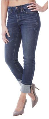 Nicole Miller Tribeca Cuffed Mid-Rise Straight-Leg Jeans