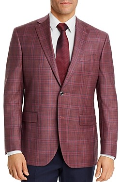 Jack Victor Plaid Regular Fit Sport Coat