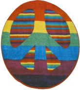 Fun Rugs Fun Time Peace Sign Rug - 3'3'' Round
