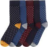 Linea 5 Pack Spotty Socks