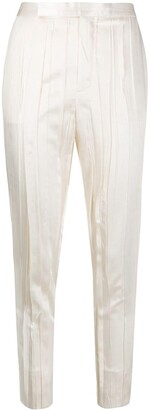 Saint Laurent Crinkle-Effect Tailored Trousers