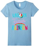 Womens Walk with unicorn dance with fairies catch the raibow XL
