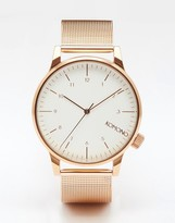 Komono Winston Royale Metal Watch In Rose Gold