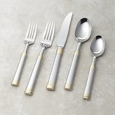 Crate & Barrel Tuscany Gold Band 5-Piece Flatware Place Setting