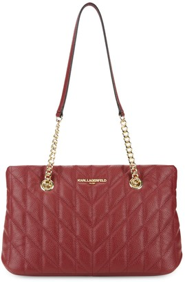 Karl Lagerfeld Paris Karolina Quilted Leather Tote