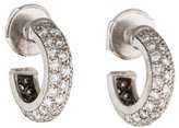 Cartier Platinum Diamond Small Hoop Earrings