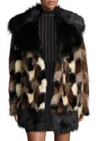 Marc Jacobs Patchwork Faux Fur Coat