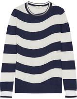 Fendi Striped Cashmere-blend Sweater - Navy