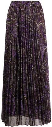 P.A.R.O.S.H. Paisley Print Maxi Skirt