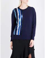 Prabal Gurung Sequin-embellished cashmere and silk-blend jumper