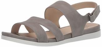 LifeStride Women's Ashley 2 Flat Sandal Grey 7.5 M US