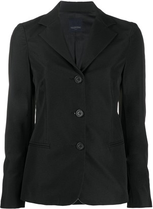 Valentino Pre-Owned 2000s Slim-Fit Buttoned Blazer