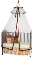 Bed Bath & Beyond Heirloom Ivory & Brown Dome with Ruffle