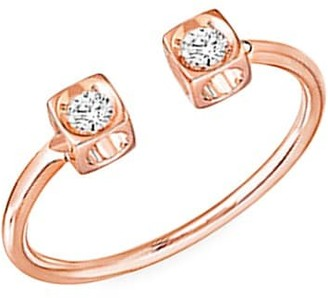 Dinh Van Le Cube 18K Rose Gold & Diamond Open Ring