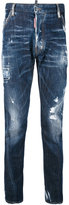 DSQUARED2 distressed overdyed jeans - men - Cotton/Calf Leather/Polyester/Spandex/Elastane - 44