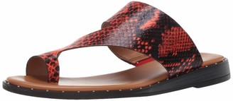 Franco Sarto Women's Ginny Slide Sandal red 5.5 M US