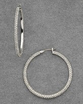 Women's Sutton Place Large Pavé Hoop Earrings