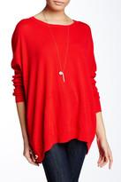 Joan Vass Side Snap Wool Blend Sweater