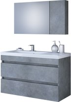 "DP Bath Collection DP Wall Bath Vanity Cabinet Set 39.4"" Single Sink W/ Laminated Granite Finish"