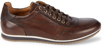 Magnanni Lace-Up Leather Sneakers