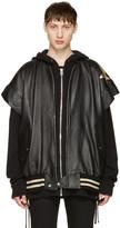 Faith Connexion Black Leather Stars Bomber Jacket