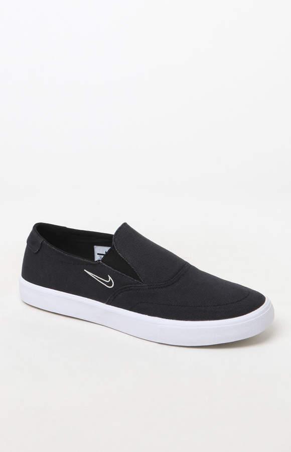 Nike SB Portmore II Solarsoft Slip-On Black Shoes