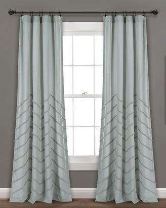 Triangle Home Fashion Chenille Chevron Window Curtain Panels
