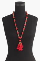 J.Crew Women's Beaded Tassel Pendant Necklace