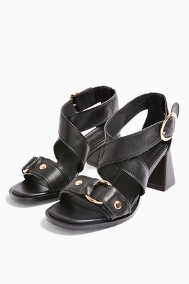 Topshop DARA Black Studded Sandals