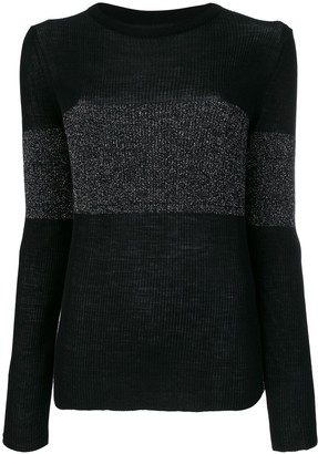Cashmere In Love cashmere Vivien lurex stripe jumper