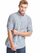 Gap True wash poplin tattersall slim fit shirt