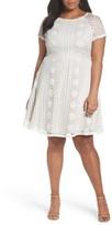 Adrianna Papell Plus Size Women's A-Line Lace Dress