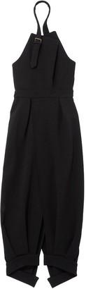 Proenza Schouler geometric cut halter dress
