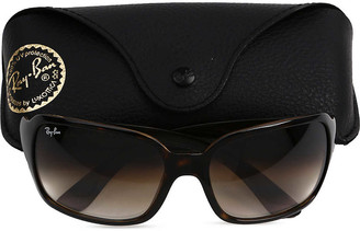 Ray-Ban Light havana square sunglasses in tortoiseshell with brown tinted lenses RB4068 60