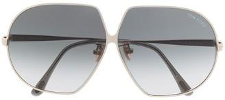Tom Ford Tara oversized-frame sunglasses