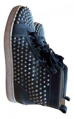 Christian Louboutin Louis Grey Leather Trainers