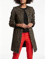 Boden Imelda Animal Print Coat, Animal Mohair