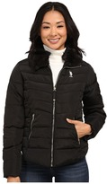 U.S. Polo Assn. Puffer Jacket with Removable Faux Fur Collar