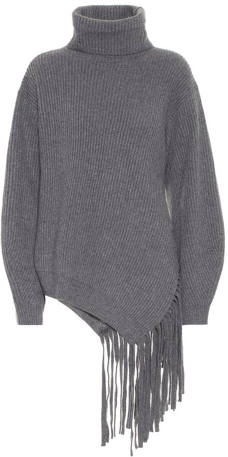 Stella McCartney Fringed cashmere and wool sweater