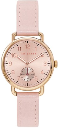 Ted Baker Women's Hannah Leather Strap Watch, 34mm