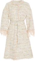 Blumarine Feather Tweed Coat