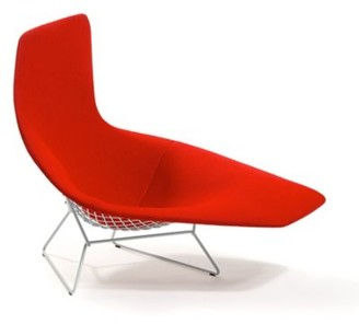 Knoll Bertoia Asymmetric Chaise, Fully Upholstered - 429L-C-U-K448/9 Authorized Retailer
