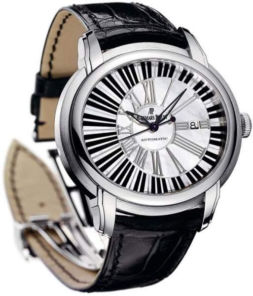 Audemars Piguet Millenary Pianoforte 15325bc.oo.d102cr.01 18K White Gold 45mm Mens Watch