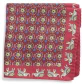 Eton Men's Elephant Silk Pocket Square