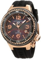 Swiss Legend Women's 11844-BKBRA Neptune Black Mother-Of-Pearl Dial Silicone Watch with Ceramic Case