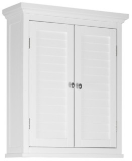 Elegant Home Fashions Slone Wall Cabinet 2 Shutter Doors